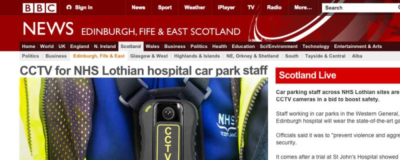 NHS Lothian roll out PR5 bodycameras
