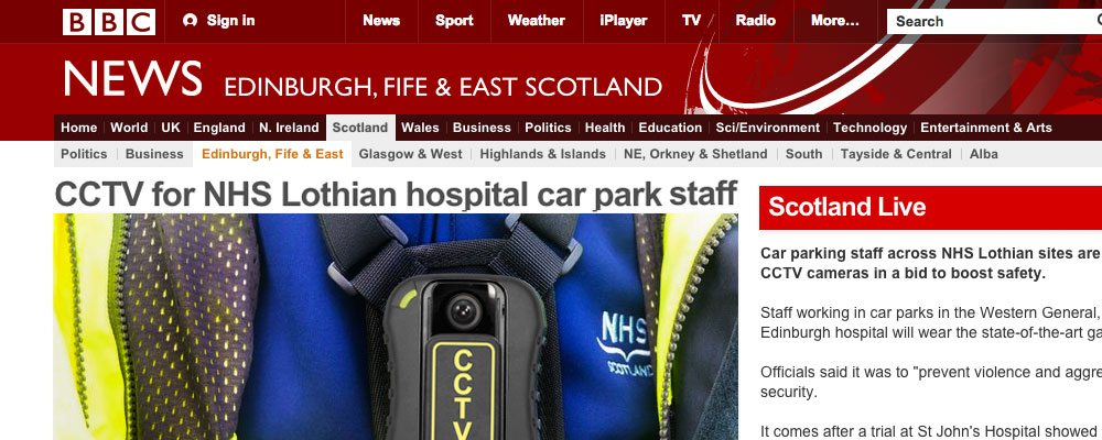 NHS Lothian roll-out PR5 body cameras