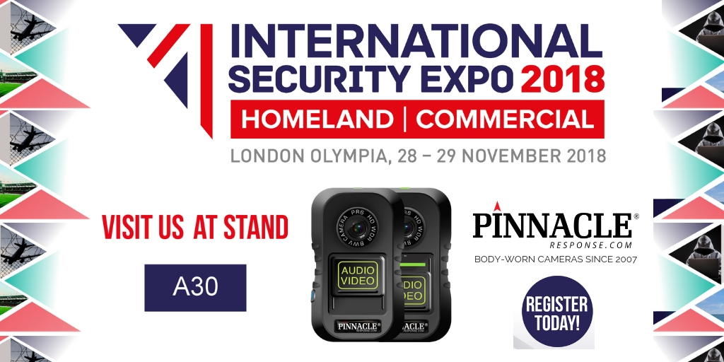 Body camera manufacturer delighted to be attending their first International Security Expo