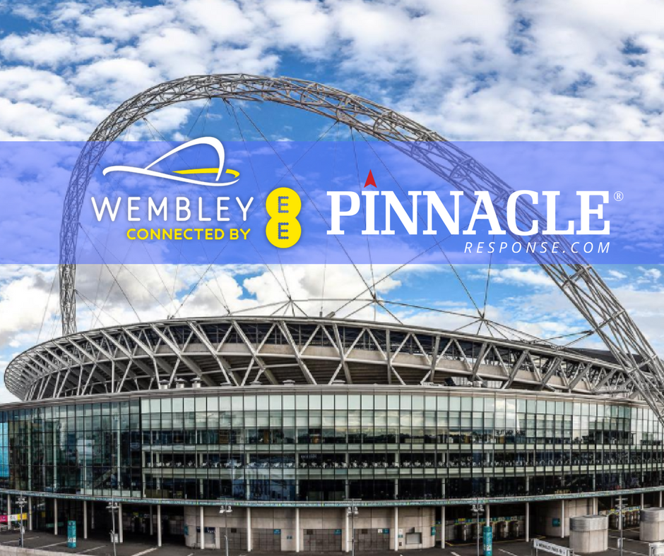The PR6 set for use in the home of world class events - Wembley Stadium